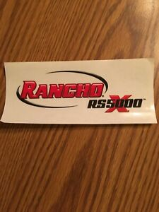1 new rancho Rs5000 Shock Absorber Sticker decal 5 1 2 X 2 1 2
