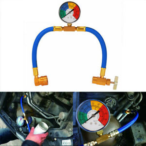 R134a Ac Car Air Conditioning Refrigerant Recharge Measuring Hose With Gauge