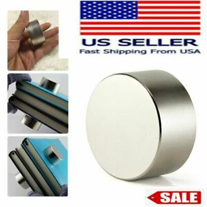 Round N52 Large Neodymium Rare Earth Magnet Big Super Strong Huge 40mm 20mm Usa