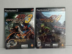 Atv Offroad Fury 3 & 4 Demo Disk Not For Resale (Sony Playstation 2  PS2) - NIB.