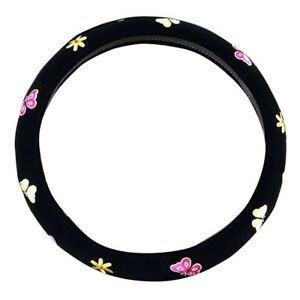 Automotive Women Embroidery Cute Car Steering Wheel Cover Butterfly