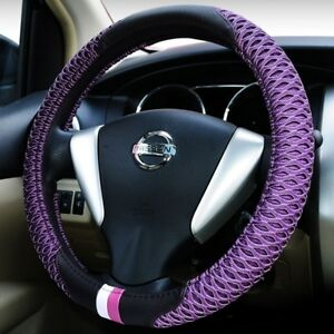 Car Steering Wheel Cover For Women Custom Non slip Red Purple Black Steering Whe