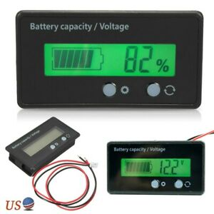 12v Lcd Indicator Battery Capacity Voltage Tester Display Lead acid Monitor New