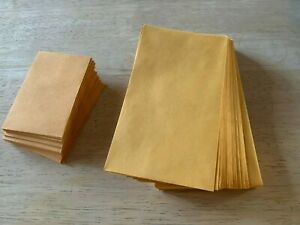 new Lot Of 25 No 1 Kraft Manila Coin Envelope 2 1 4 X 3 1 2 And 3 1 2 X 6
