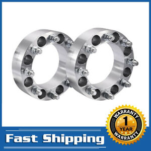 2pcs 8x6 5 To 8x6 5 Wheel Spacers Adapters Fits Most 8 Lug For Chevy Gmc 2 Inch