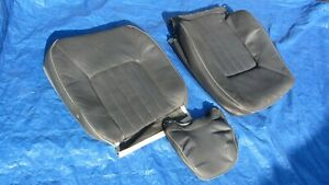 97 98 Volvo S90 V90 Oem Dark Gray Leather Driver Left Seat Covers 3 Pieces