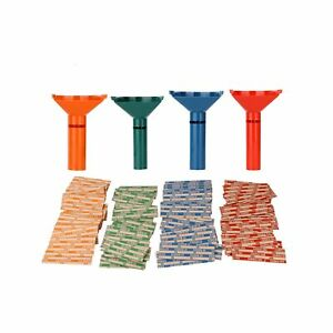 Coin Counters Sorters Plastic 4 Color coded Tubes Bundle 100 Assorted Wrappers