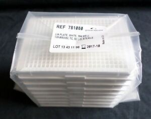8 Greiner Bio one 384 well Ps White Tc Treated Microplates W Lid 781080