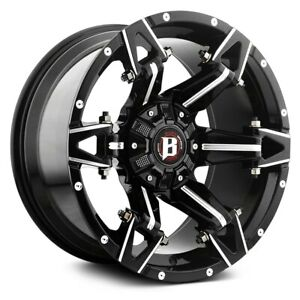 Ballistic Off road 966 Spartan Wheels 20x10 24 6x135 Black Rims Set Of 4