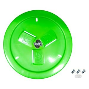 Dirt Defender Vortex Neon Green Vented Wheel Cover