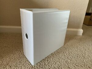1 3 Ring Binder White 5 Clear View Pockets Office Organizer