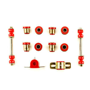 Red Poly Front End Suspension Bushings Set Fits 1958 1964 Chevrolet Full Size