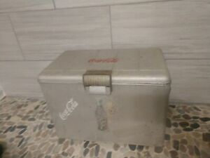 Vintage Coca-Cola Ice Chest circa 1960s Coke Cooler with Bottle Opener on Sides