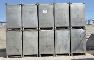 550 Gallon Stainless Steel Tote Tanks Water Tested Cleaned Only 3 Left