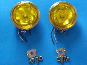 Fog Light Set 3 Round Amber Yellow Color Car Truck Marine Other New