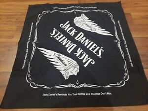 Genuine Indian Motorcycle Jack Daniels Bandana Head Tie Wrap Black