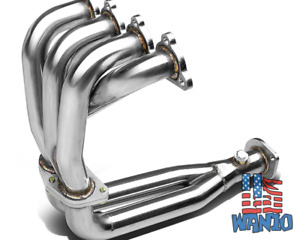 304 Ss Stainless Manifold Exhaust Header Civic Del Sol Crx 1 5l 1 6l 4cyl