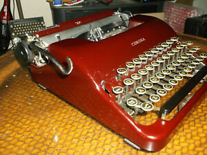 1940s Corona Portable Typewriter Serviced And Tested Rare Brown Color