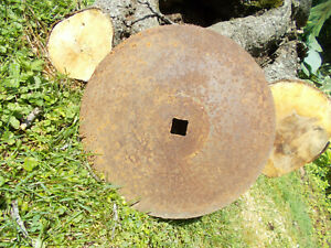 Vtg Farm Implement Disc Plow Blade industrial Steampunk 16 Diameter barn Find