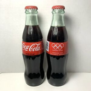 Coca-Cola London 2012 Olympic Games Glass Bottles Set of 2