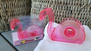 Pink Flamingo Tape Dispenser Refillable W clear Tape 3 4 Inch Desk School Supply
