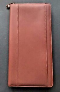 Cutter Buck Genuine Brown Leather Zip Up Organizer New In Original Box
