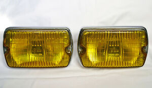 Cibie Iode 35 Vintage Chrome Yellow Driving Lights Pair