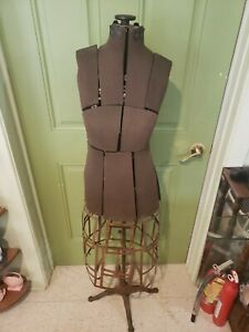 Antique Victorian Dress Form Mannequin Clawfoot Adjustable