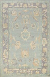 All Over Authentic Oushak Vegetable Dye Turkish Muted Hand Knotted Area Rug 8x10