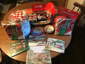 Coca-cola Collectibles Lot of 22 Vintage Pieces a Great addition to any collecti