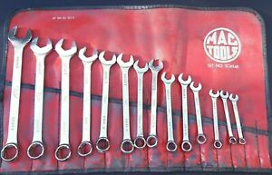 Read Vintage 14 Piece Mac Tools Usa Metric Combination Wrench Set 6 19mm Scm14k