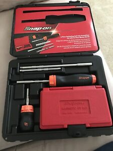 Snap On Sgdmrc108ao 6pc Master Ratcheting Screwdriver Set New Open Box