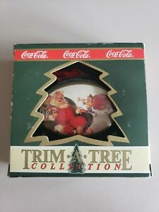 Coca Cola Trim A Tree Collection 4 boxes Christmas Ornaments New in Box