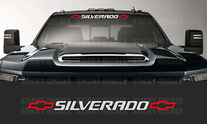 Silverado 2 Color Front Windshield Banner Decal Sticker 36 Chevy Chevrolet