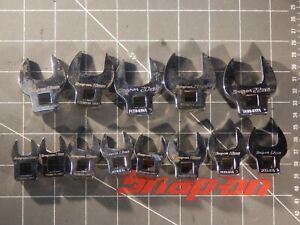 Snap On Metric 13 Of 16pc 3 8 Dr Open End Crowfoot Set 10mm 22mm Crow Foot Fcom