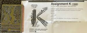 Assignment K Vintage 1968 Wood Movie Ad Printing Press Block Stamp Rare