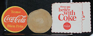 MIXED LOT VINTAGE COCA-COLA  COASTERS  ONE MONEY