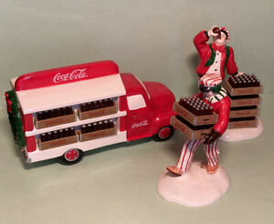 DEPT 56 SNOW VILLAGE COCA COLA DELIVERY TRUCK 5479-8 & DELIVERY MEN 5480-1