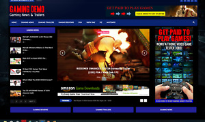 Gaming News Affiliate Product Website 100 Automated premium Designed