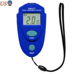 Mini Auto Paint Thickness Gauge Lcd Digital Car Coating Meter Thickness Tester R