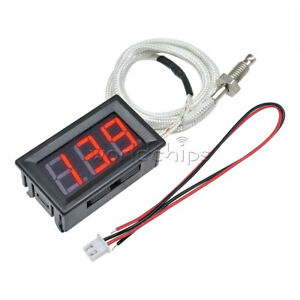 Dc 12v Digital Red Led Diaplay Thermometer K type M6 Thermocouple Tester