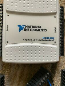 Two National Instruments Usb 6008 Data Acquisition Card Ni Daq Multifunction