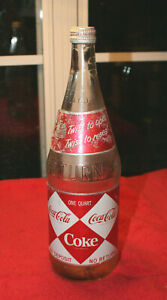 RARE ORIGINAL COCA COLA DIAMOND NDNR 1 QUART BOTTLE