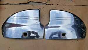 1941 Chevy Rear Fender Guards Wrap Arounds Original Chevrolet Accessory Pair