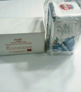 Vintage Coca Cola Napkin Dispenser 1994  'Always Cool ' With Box Napkin Holder