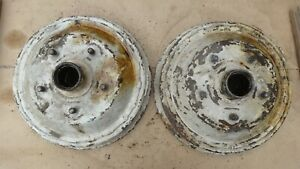 1940 1941 1942 1946 Ford Front Brake Drums Hubs Original Pair 1947 1948