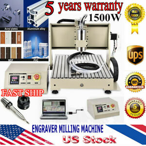 3 Axis Cnc Router 6040 Engraver Machine Mill Metal Wood Cutter Spindle 1 5kw Usb