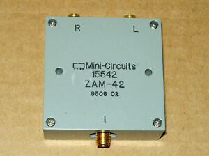 Mini circuits Zam 42 Frequency Mixer 1 5 To 4 2 Ghz if 0 500 Mhz 7 Dbm Sma