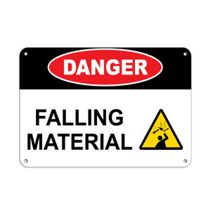 Horizontal Metal Sign Multiple Sizes Danger Falling Material A Construction