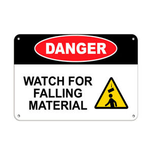 Horizontal Metal Sign Multiple Sizes Danger Watch Falling Material Construction